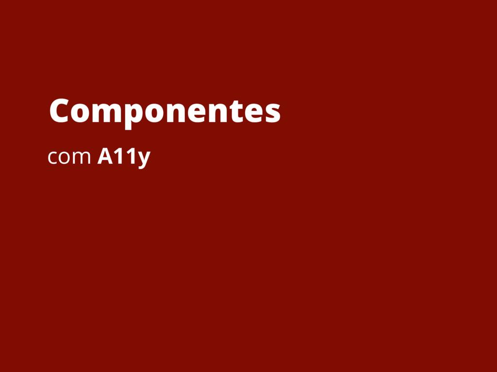 Componentes com A11y