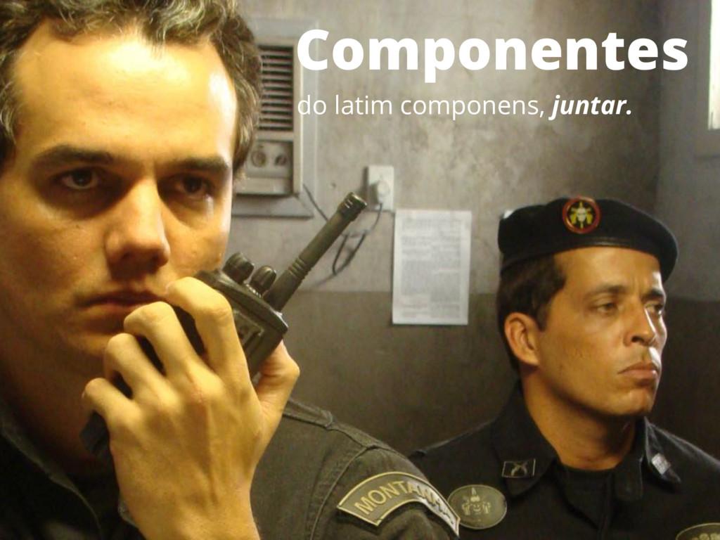 Componentes do latim componens, juntar.