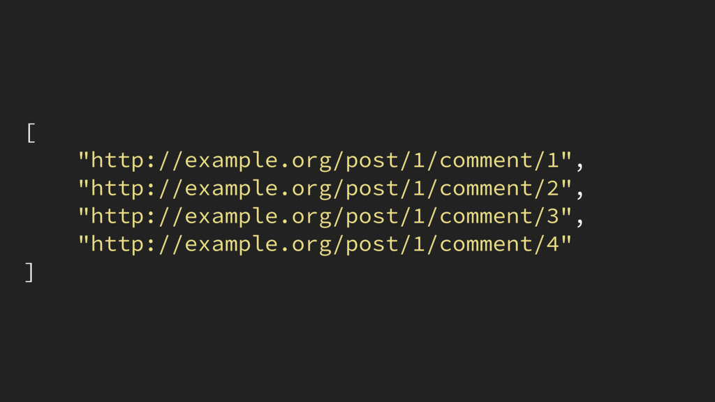 """[ """"http://example.org/post/1/comment/1"""", """"http:..."""