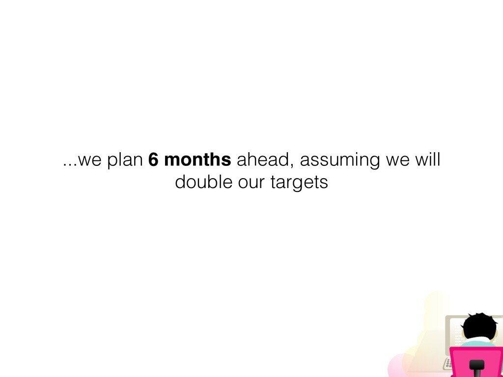 ...we plan 6 months ahead, assuming we will dou...