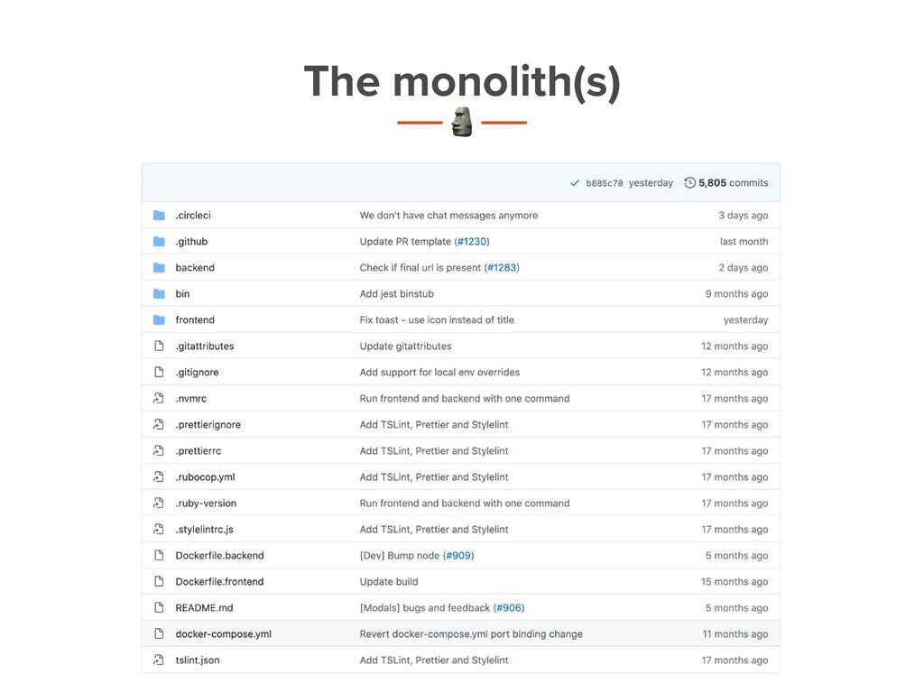 The monolith(s) t C