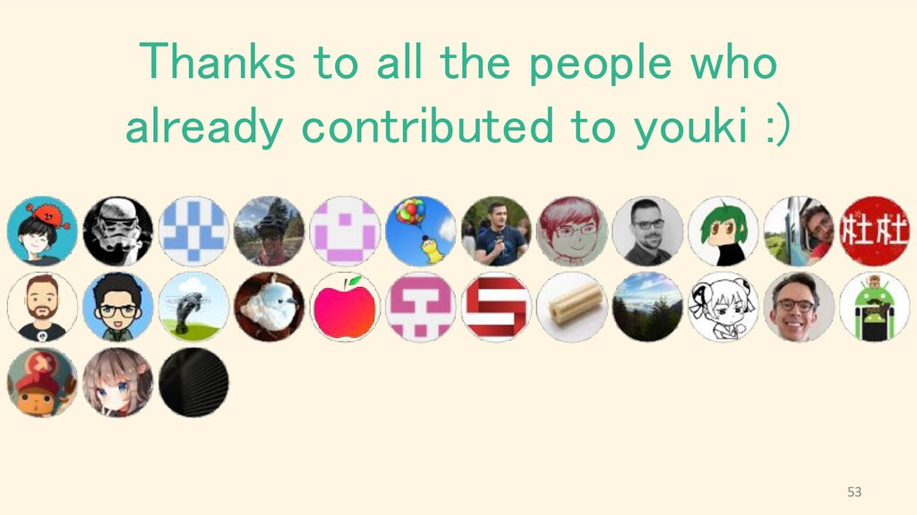 Thanks to all the people who already contribute...
