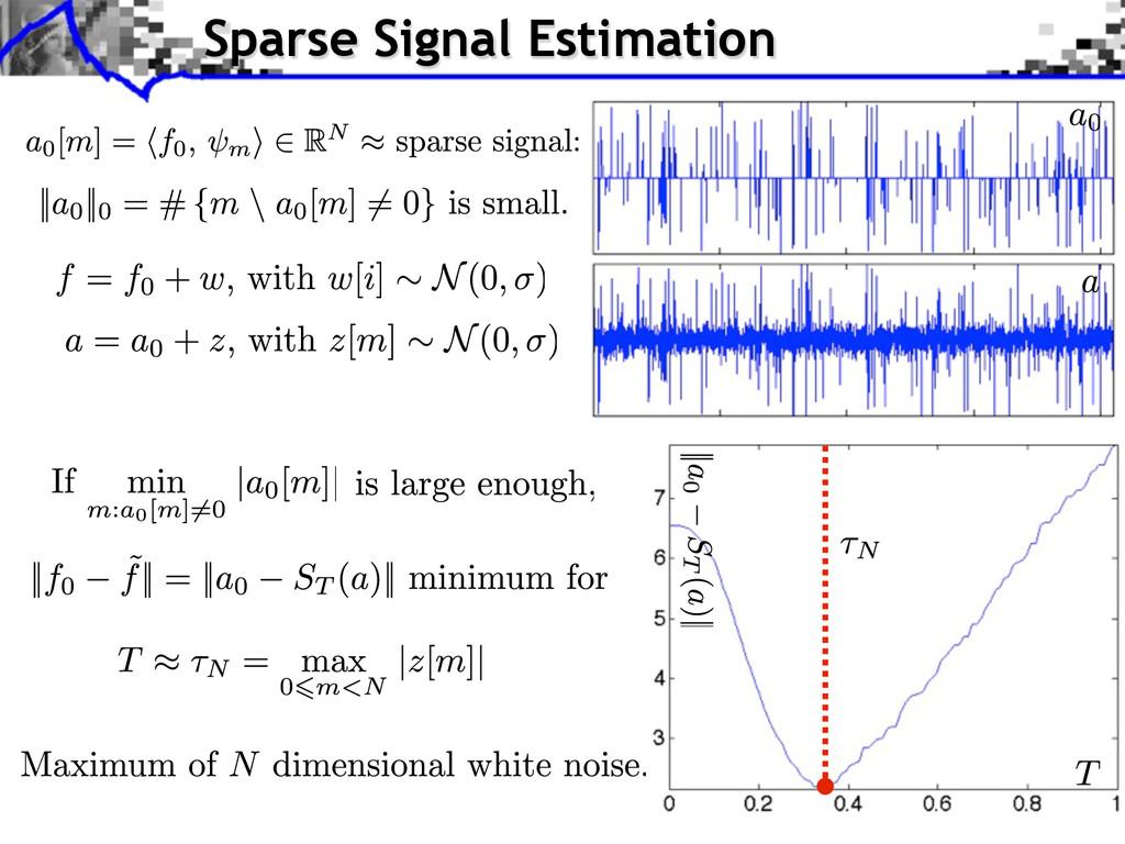 Sparse Signal Estimation