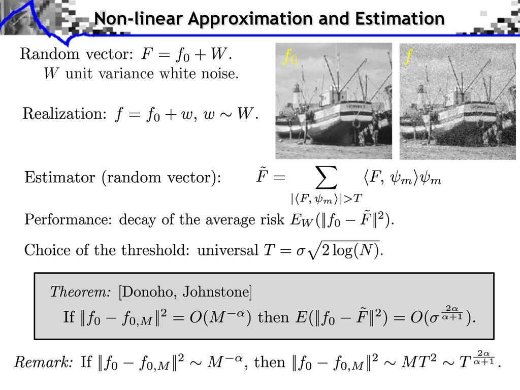 W unit variance white noise. Non-linear Approxi...