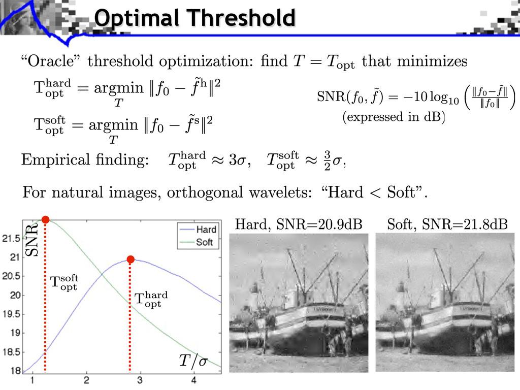 Optimal Threshold