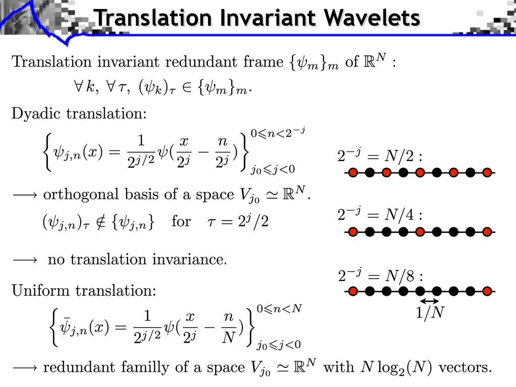 Translation Invariant Wavelets