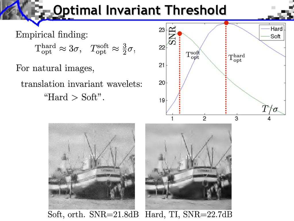 Optimal Invariant Threshold