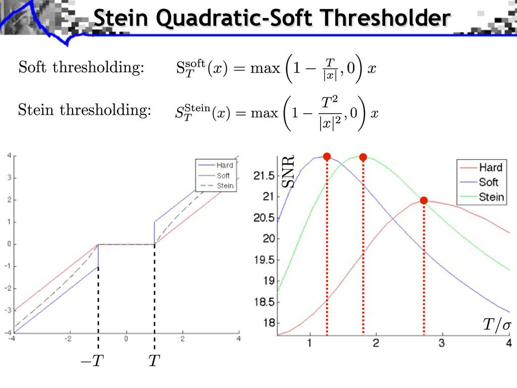 Stein Quadratic-Soft Thresholder