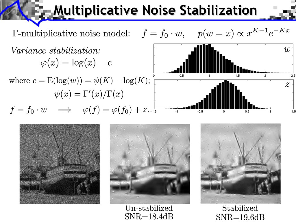 Multiplicative Noise Stabilization 0 0.5 1 1.5 ...