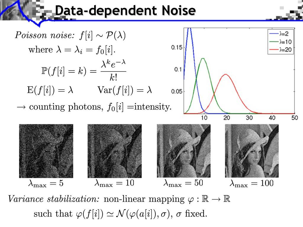 Data-dependent Noise