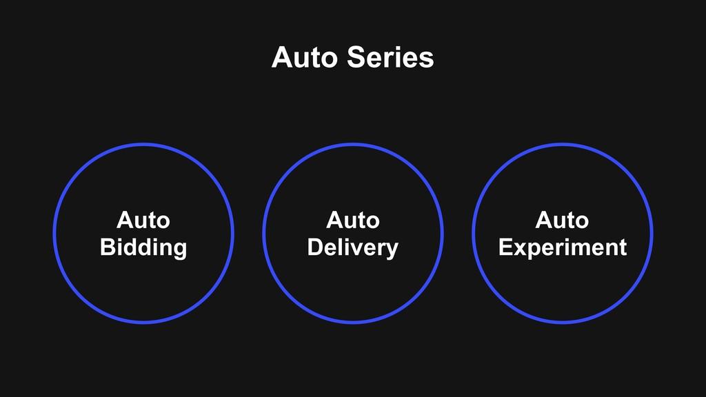 Auto Delivery Auto Bidding Auto Experiment Auto...