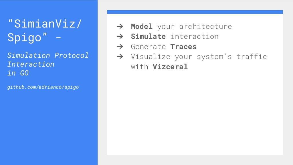 ➔ Model your architecture ➔ Simulate interactio...
