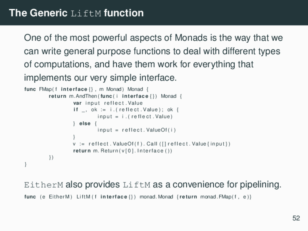 The Generic LiftM function One of the most powe...