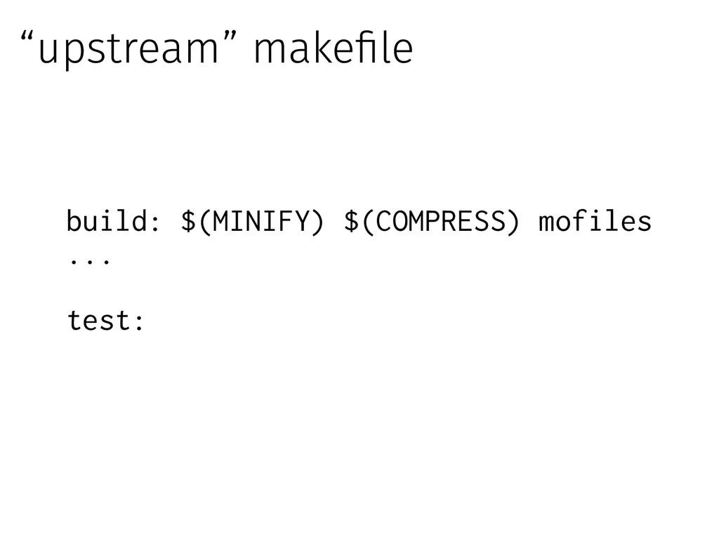 build: $(MINIFY) $(COMPRESS) mofiles ... test: ...