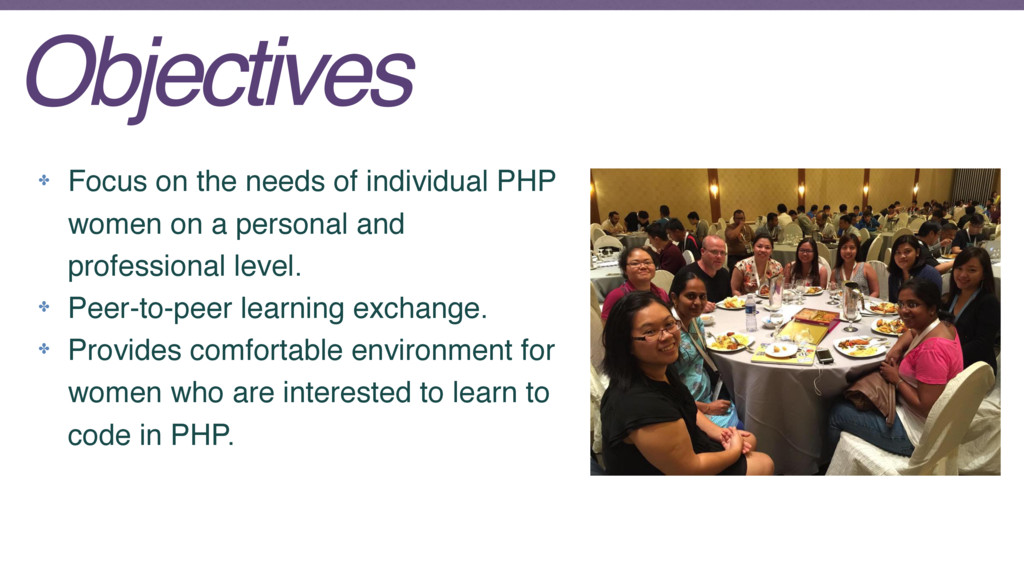 ✤ Focus on the needs of individual PHP women on...