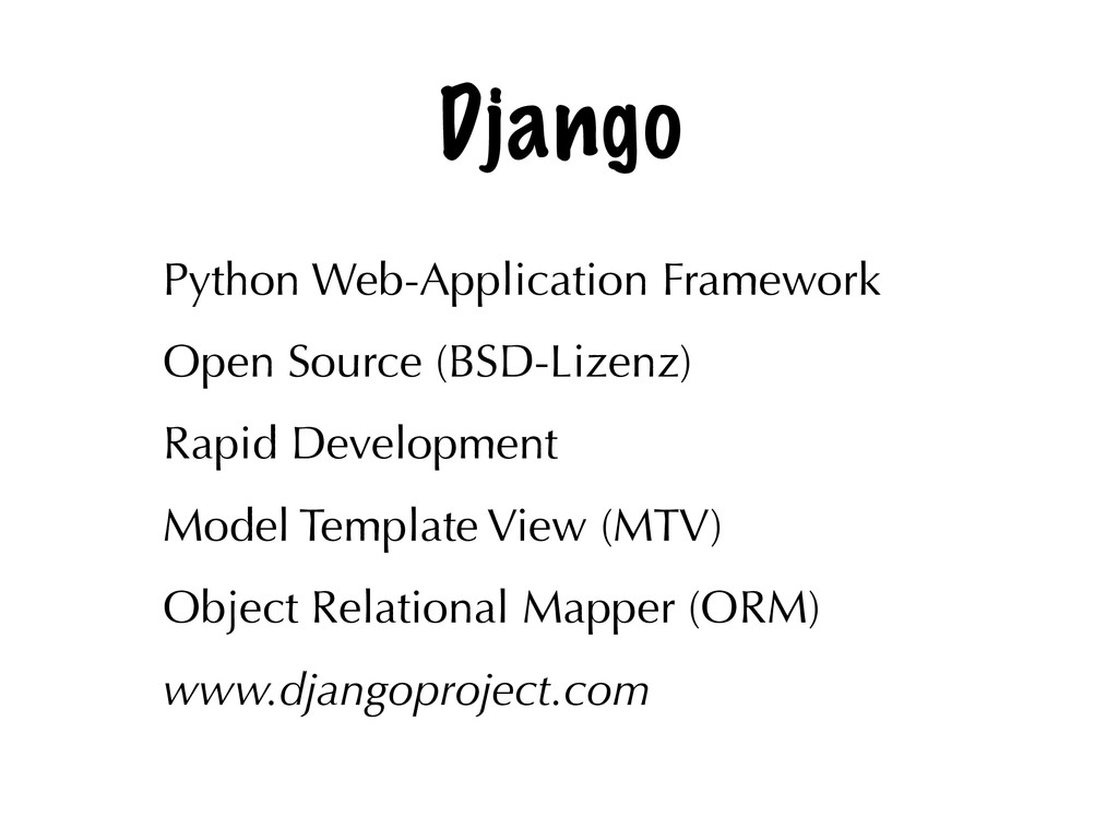 Django Python Web-Application Framework Open So...