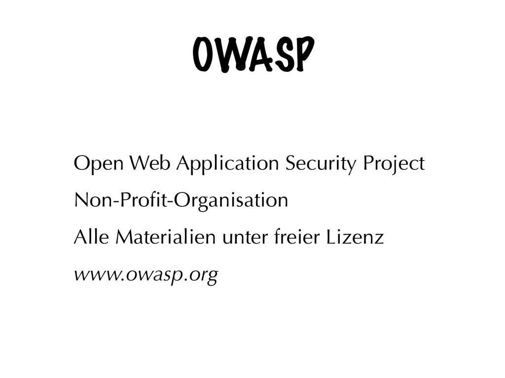 OWASP Open Web Application Security Project Non...