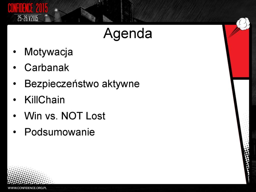 Agenda • Motywacja • Carbanak • Bezpieczeńst...