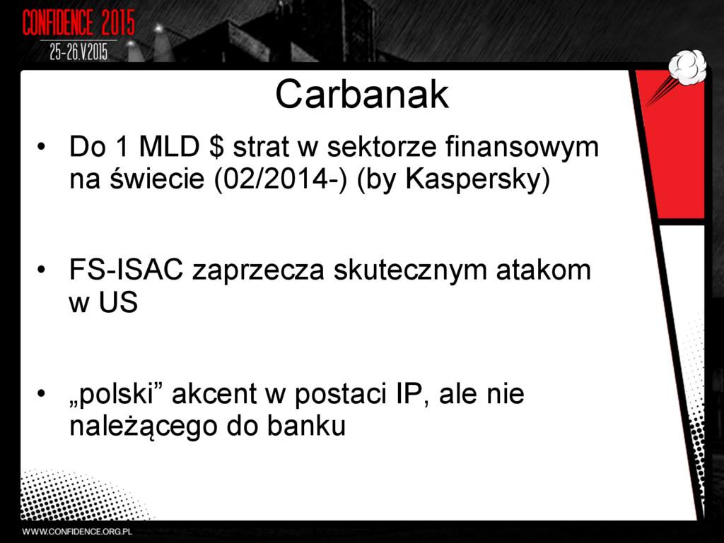 Carbanak • Do 1 MLD $ strat w sektorze finanso...
