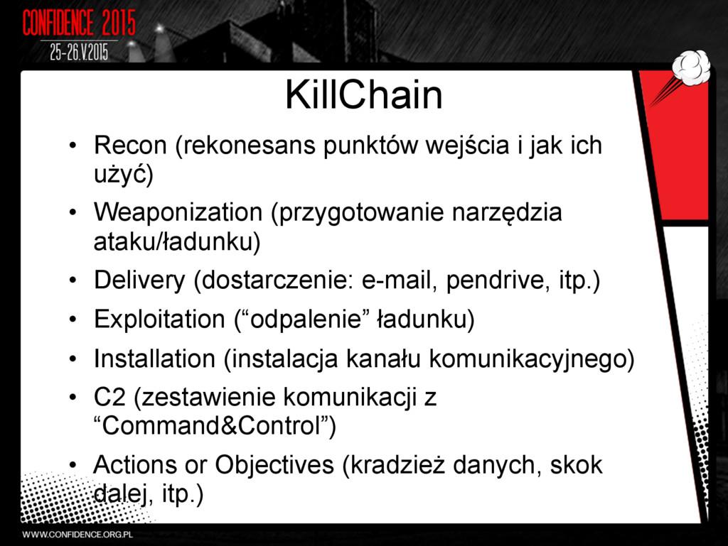KillChain • Recon (rekonesans punktów wejścia ...
