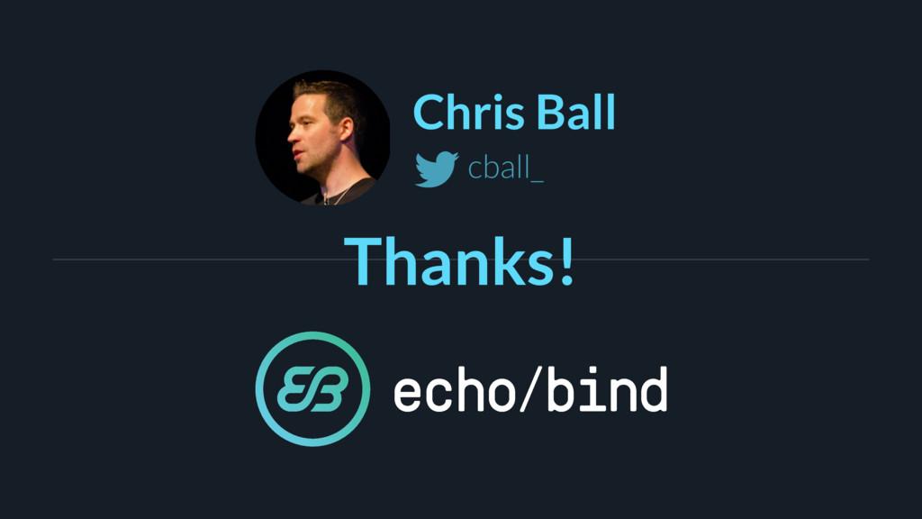 Chris Ball cball_ Thanks!