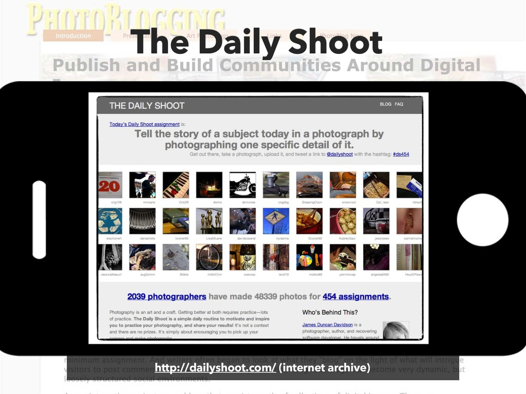 The Daily Shoot http://dailyshoot.com/ (interne...