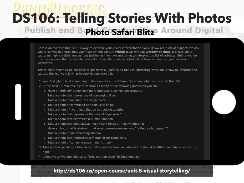 DS106: Telling Stories With Photos http://ds106...