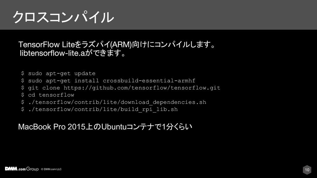 © DMM.com LLC クロスコンパイル MacBook Pro 2015上のUbuntu...