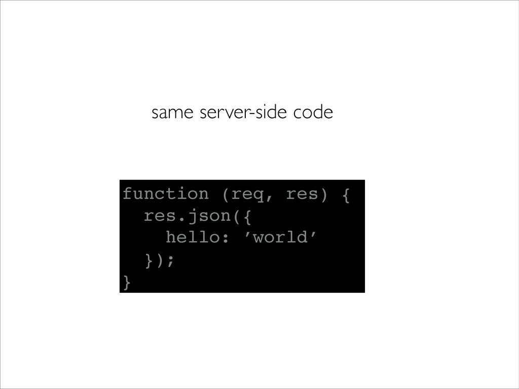 same server-side code function (req, res) {! re...