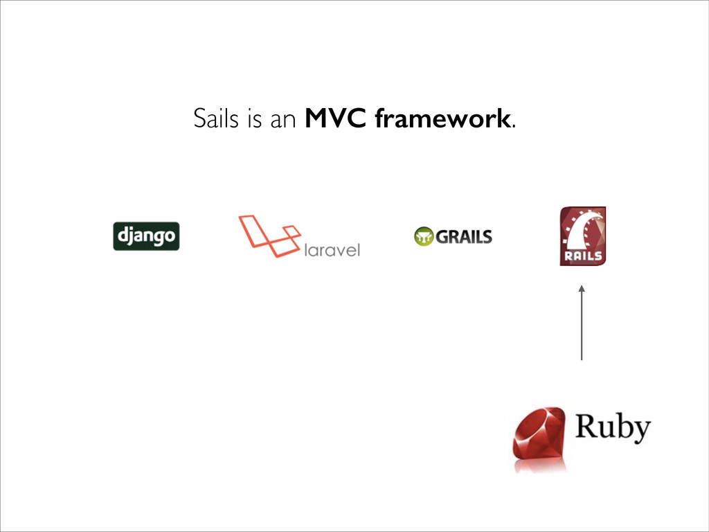 Sails is an MVC framework.