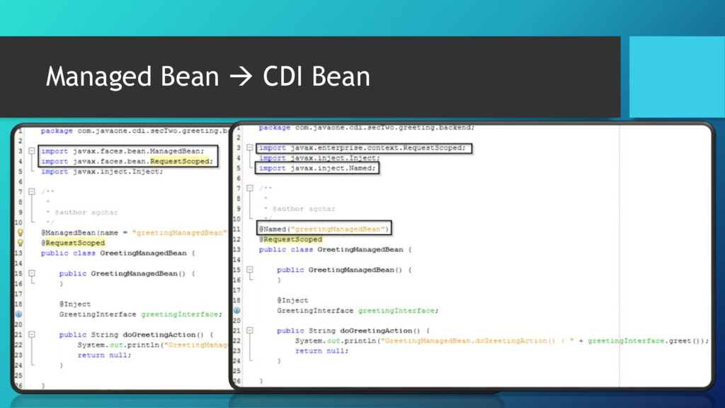 Managed Bean  CDI Bean