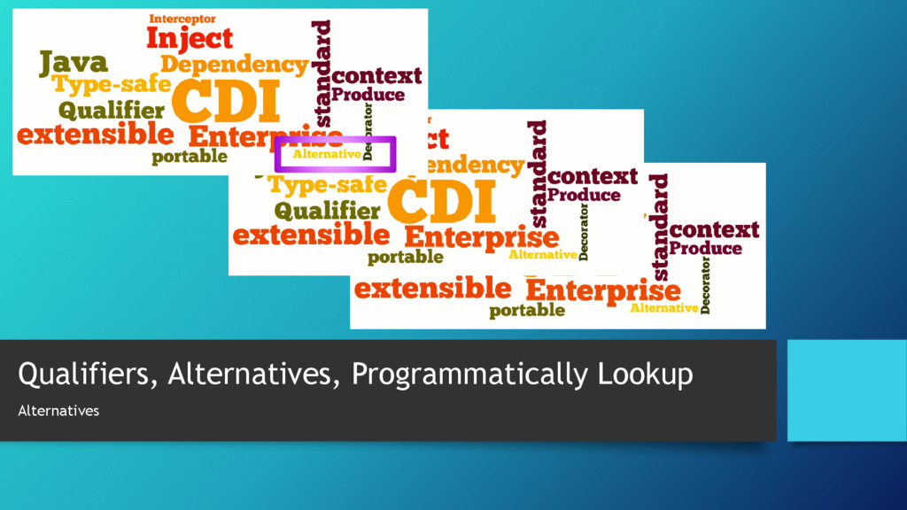 Qualifiers, Alternatives, Programmatically Look...