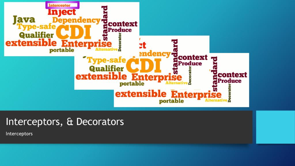 Interceptors, & Decorators Interceptors