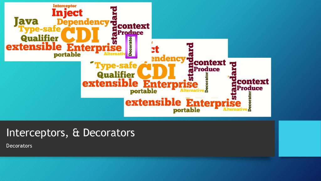 Interceptors, & Decorators Decorators