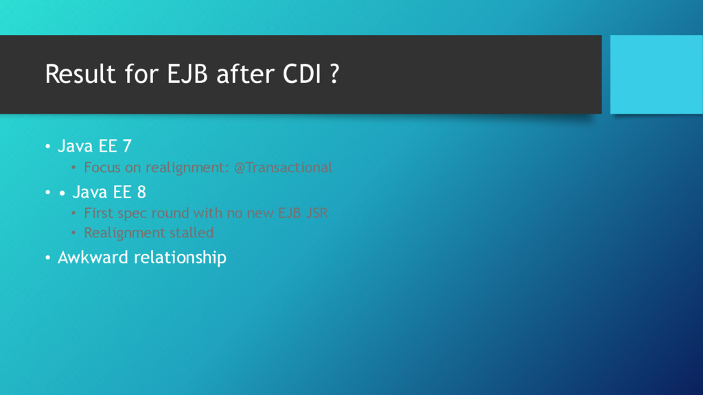 Result for EJB after CDI ? • Java EE 7 • Focus ...