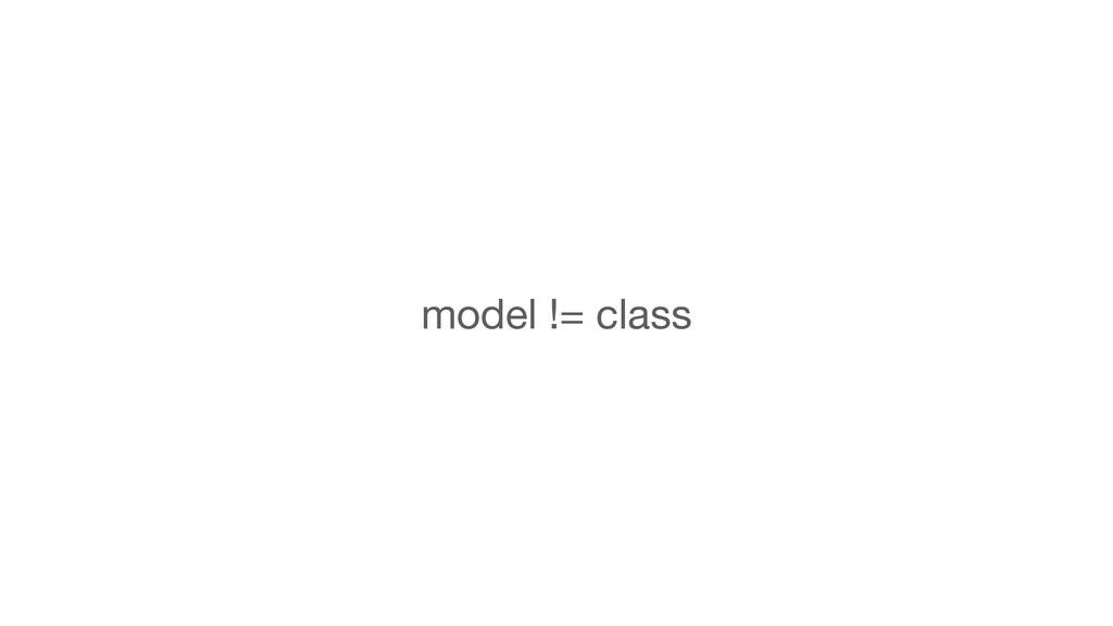 model != class