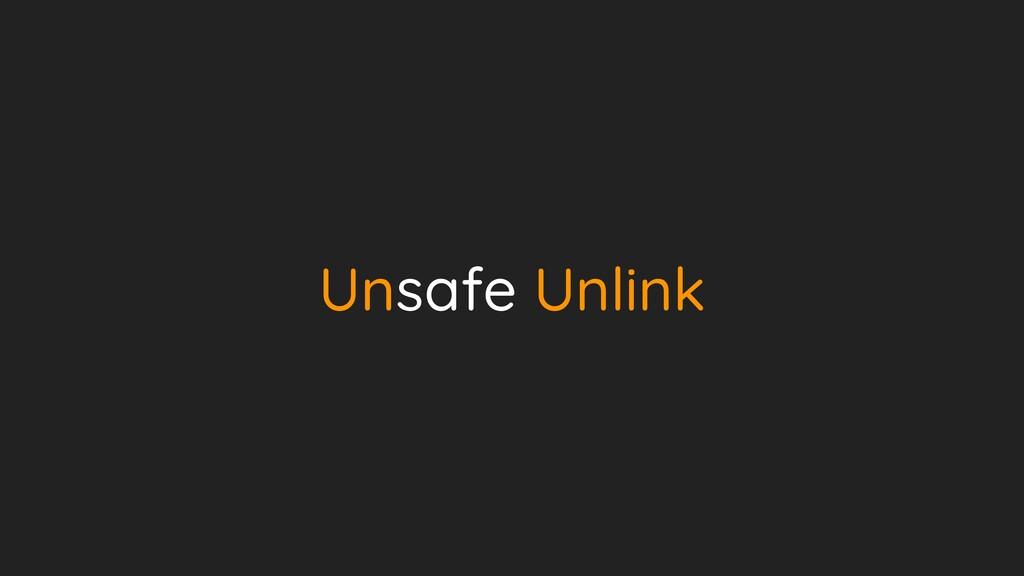 Unsafe Unlink