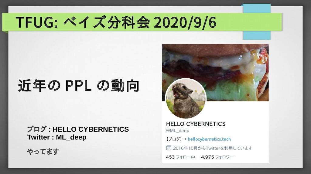 TFUG: ベイズ分科会 2020/9/6 ブログ : HELLO CYBERNETICS T...