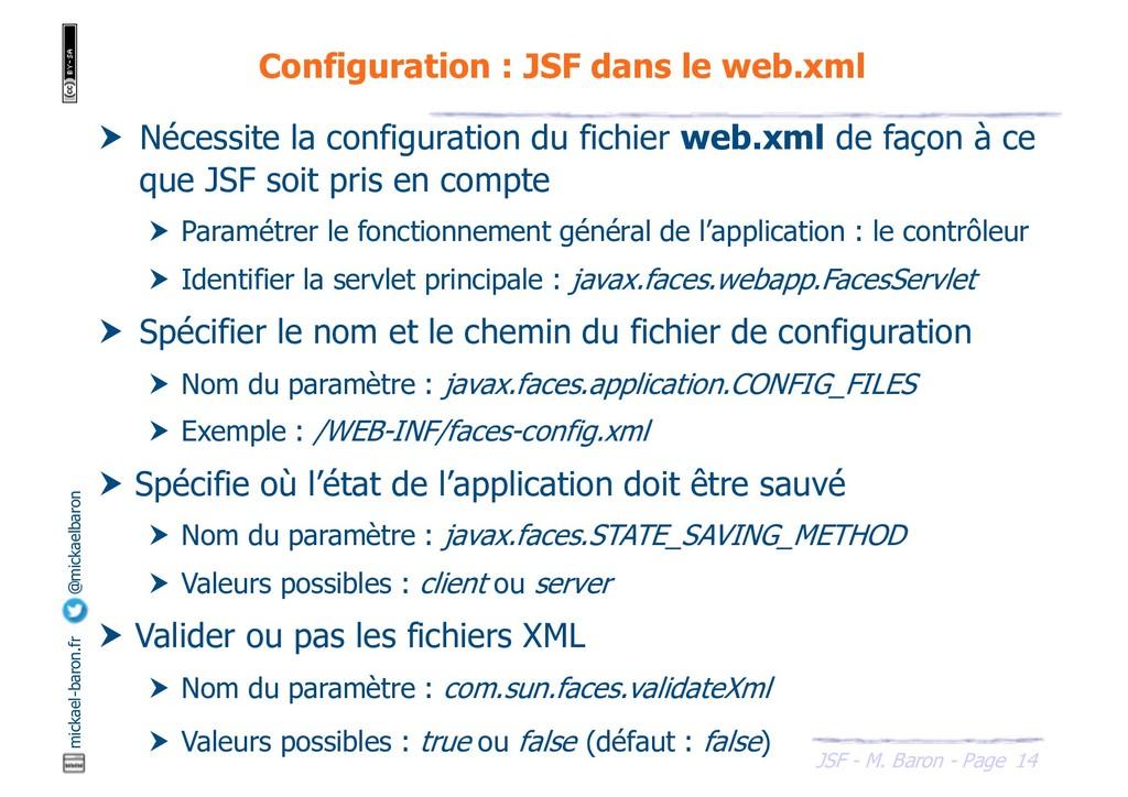 14 JSF - M. Baron - Page mickael-baron.fr @mick...