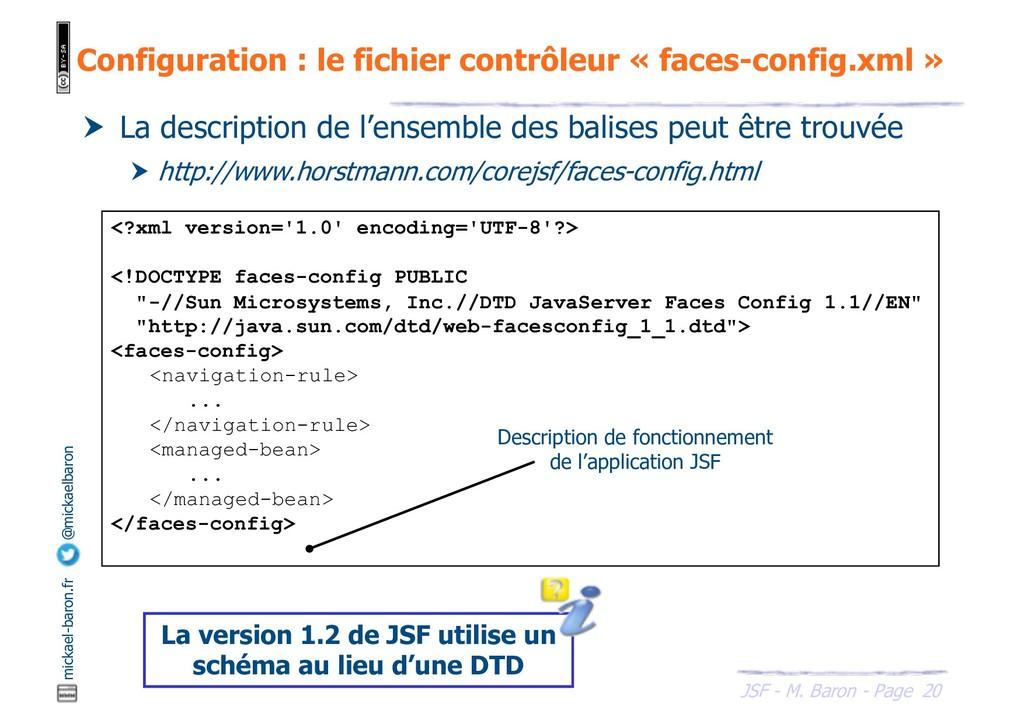 20 JSF - M. Baron - Page mickael-baron.fr @mick...