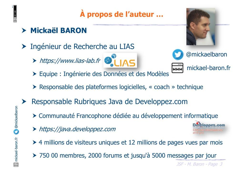 3 JSF - M. Baron - Page mickael-baron.fr @micka...