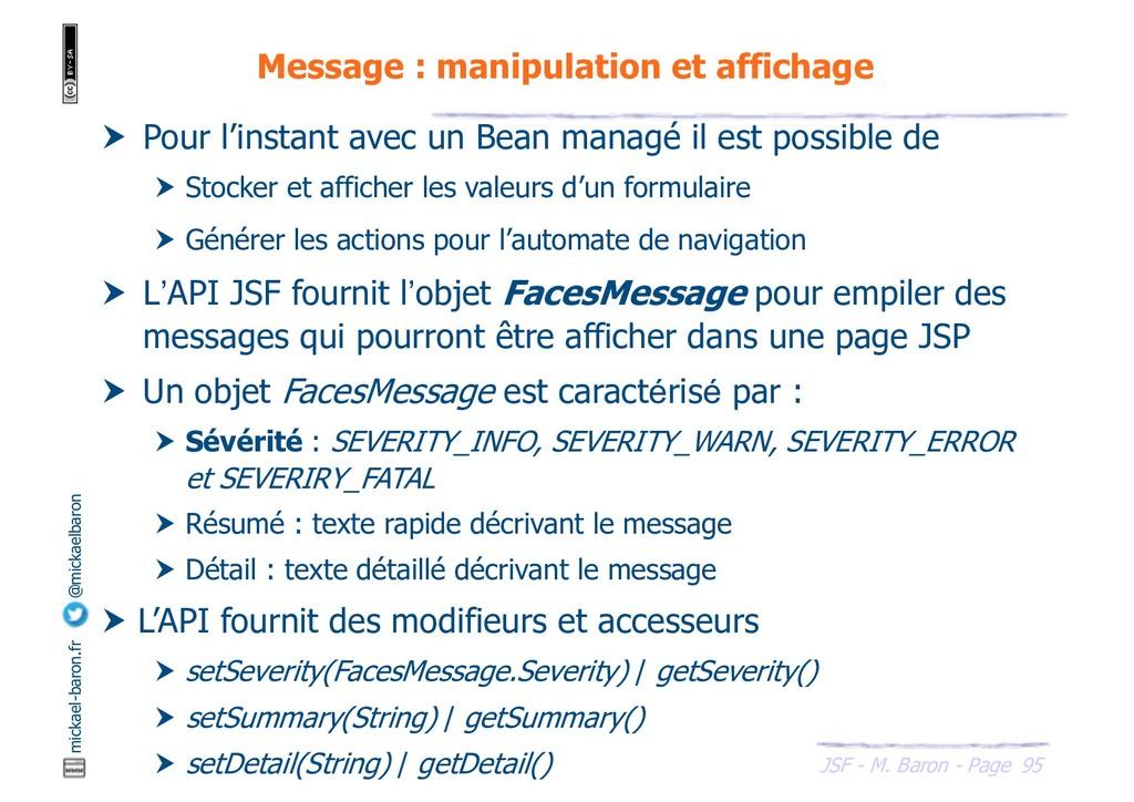 95 JSF - M. Baron - Page mickael-baron.fr @mick...