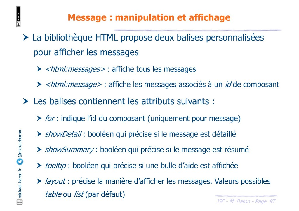 97 JSF - M. Baron - Page mickael-baron.fr @mick...