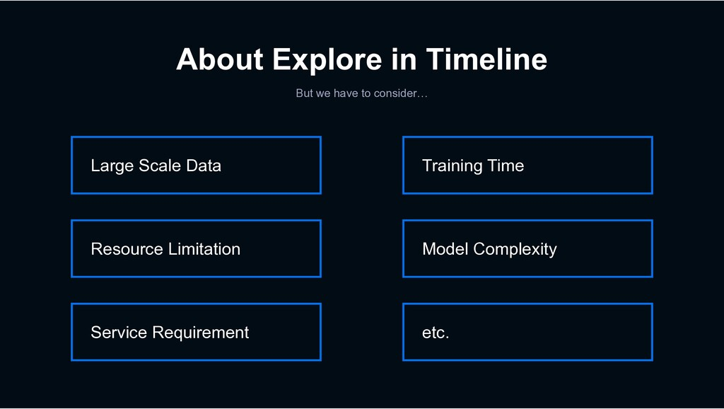 About Explore in Timeline But we have to consid...