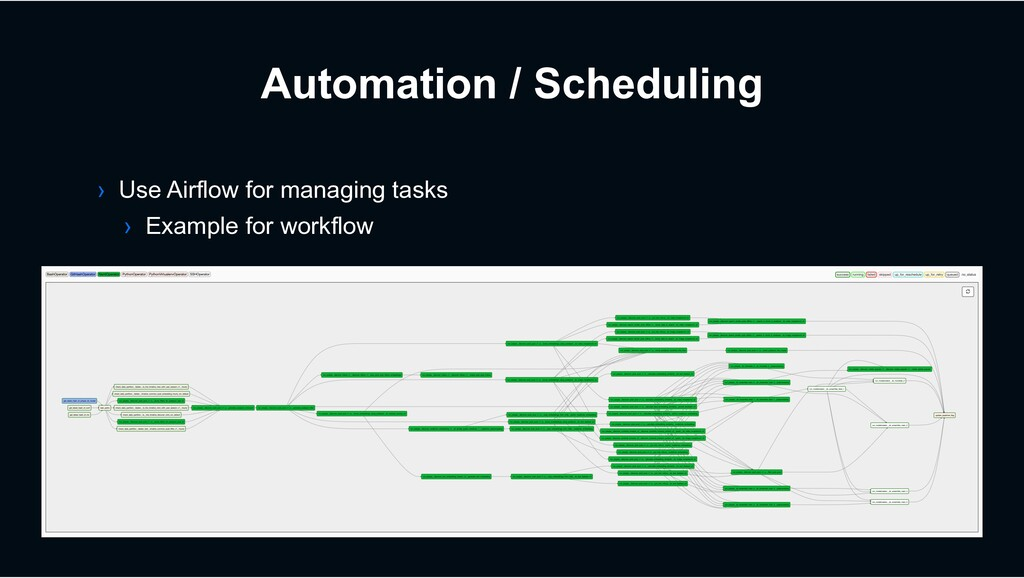 Automation / Scheduling › Use Airflow for manag...
