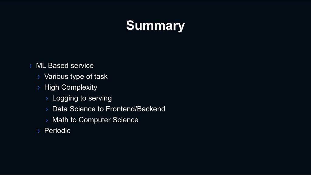 Summary › ML Based service › Various type of ta...