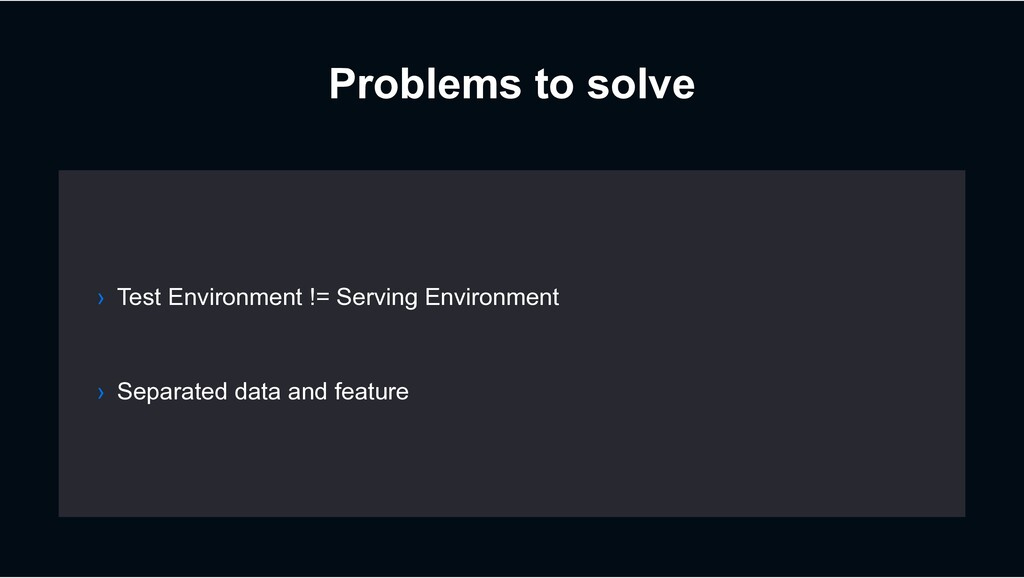 Problems to solve › Separated data and feature ...