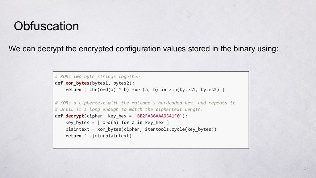31 We can decrypt the encrypted configuration v...