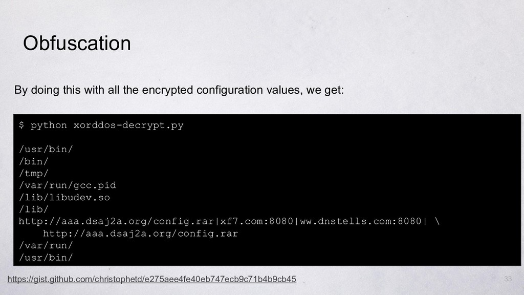 33 By doing this with all the encrypted configu...