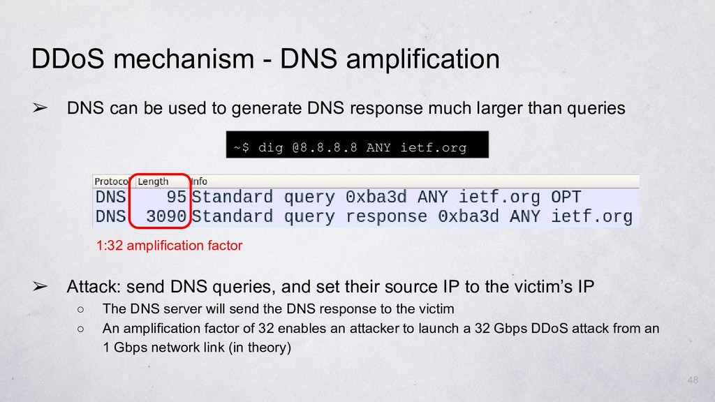 ➢ DNS can be used to generate DNS response much...
